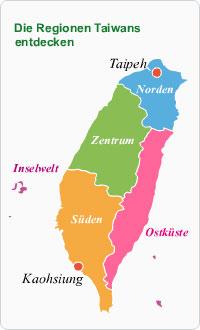 Regionen Taiwans
