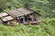 Einfache Hütte der Ureinwohner