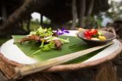 Gutes Essen in traditioneller Umgebung
