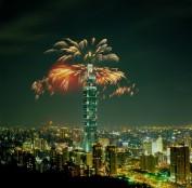 Feuerwerk am Taipei 101