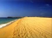 Der Sandstrand von Penghu lädt zum Verweilen ein